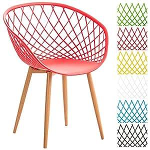 Clp silla comedor mora con asiento de pl stico y soporte - Protector de suelo para sillas ...