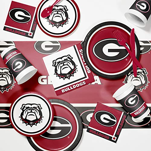 Creative Converting University of Georgia Game Day Party Supplies Kit, Serves 8