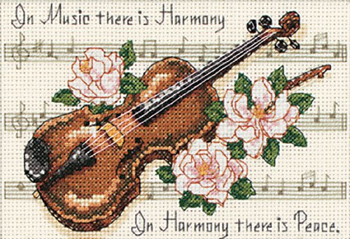 Dimensions Needlecrafts Counted Cross Stitch, Music Is (Counted Cross Stitch Book)