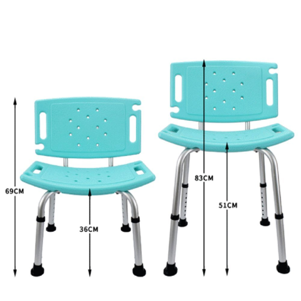 Amazon.com: DGS Adjustable Bath Stool/Shower Chair/Free Assist Grab ...
