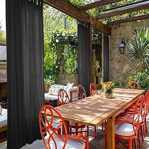 cololeaf interior al aire libre cortina de SHEER para patio| porch| gazebo| Pergola | Cabana | dock| playa home| backyard| country| garden| boda - Tab Top ...