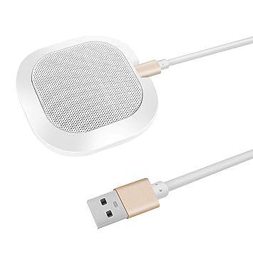 Micrófono USB omnidireccional de Alta sensibilidad, Mesa portátil ...