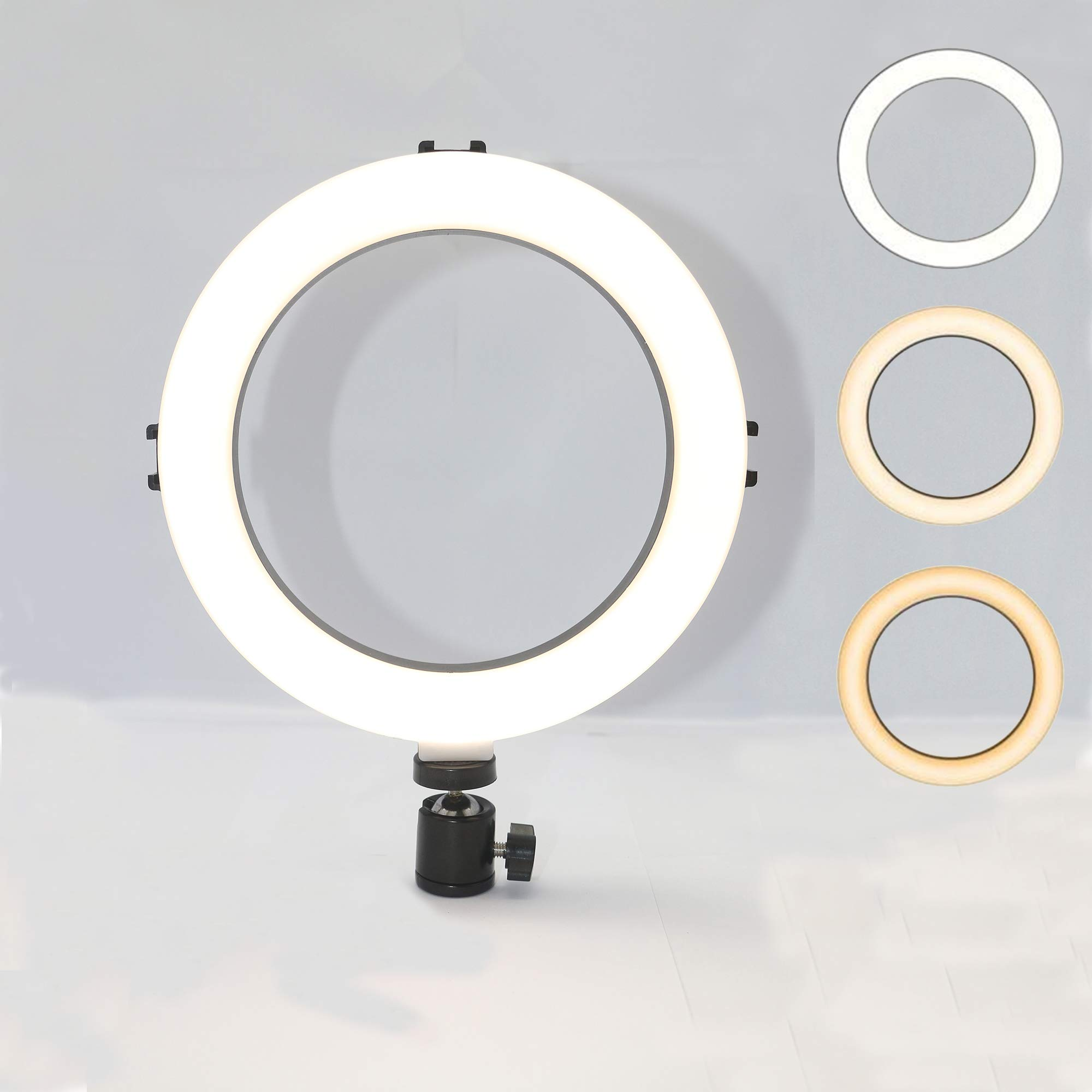 8'' LED Selfie Ring Light for Live Streaming/Makeup/YouTube Video,Dimmable Beauty Ringlight for Photography Lighting with 3 Light Modes & 10 Brightness Level