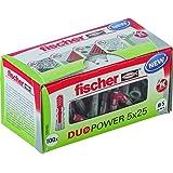 Fischer DUOPOWER 5 x 25, universalmunstycke, kraftfull 2-komponent-munstycke, plastmunstycken för fastsättning i betong…