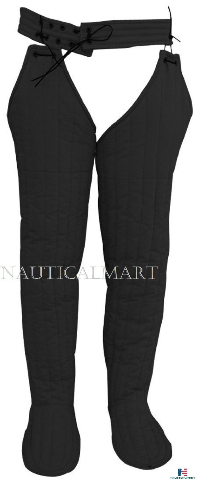 NAUTICALMART Padded Arming Leg Protection Cotton Padded Legging with Shoe Cover