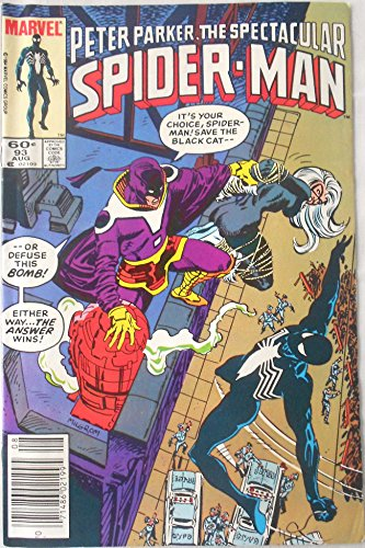 Peter Parker, The Spectacular Spider-Man, No. 93 (Vol. 1, August, 1984 Issue)