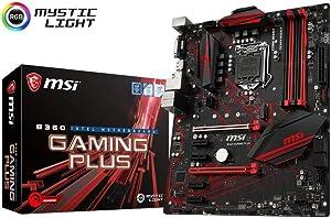MSI Performance Gaming Intel Coffee Lake B360 LGA 1151 DDR4 Onboard Graphics CFX ATX Motherboard (B360 Gaming Plus) (Renewed)