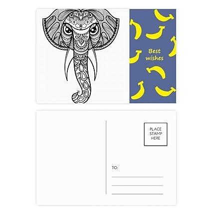 DIYthinker Gracias tarjeta de pintar elefante amigo Company ...