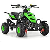 FUN:BIKES FunBikes Kids Mini Quad Bike 49cc 50cc Petrol Quad - Ride On ATV Midi (Green)