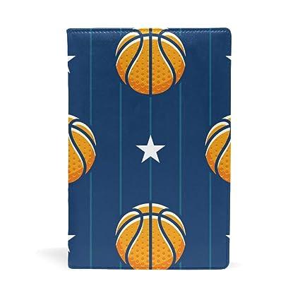 Fundas de cuaderno tamaño A5 con diseño de rayas de baloncesto y ...