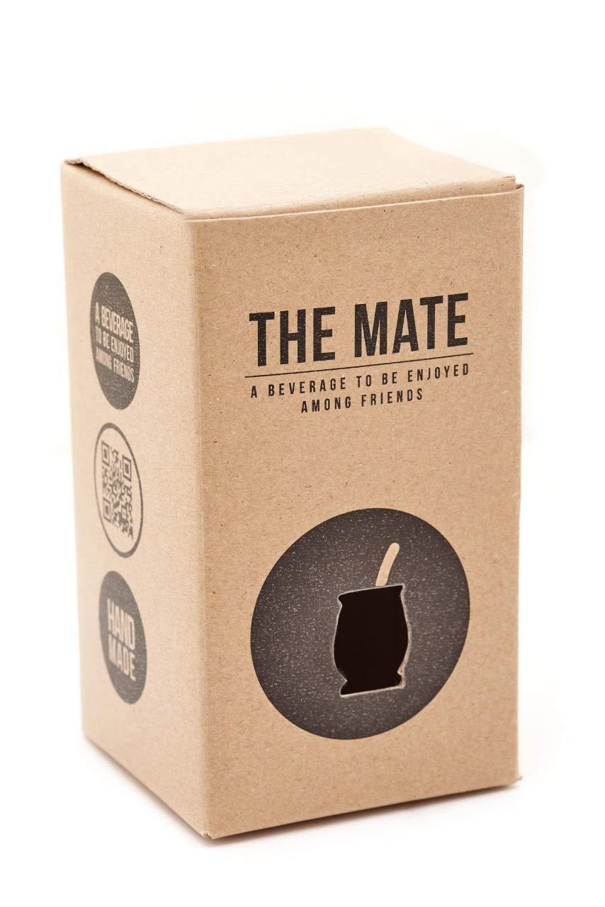 BALIBETOV [NEW] Leather & Glass Yerba Mate Gourd set (Mate cup) with Yerba Mate Bombilla (straw) (BROWN)