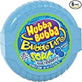 Hubba Bubba Sour Blue Raspberry Bubble Gum Tape, 2 ounce (Pack of 6) Review