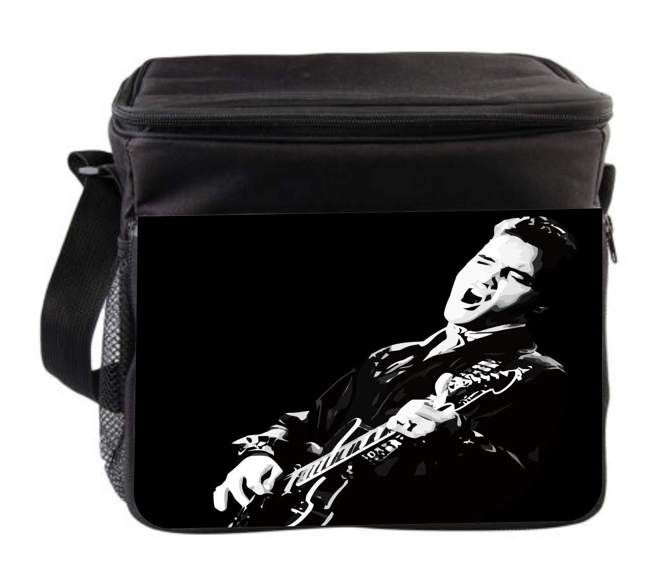 Rosie Parker Inc. Vintage Presley Guitar Cross Body Thermal Cooler Bag for Travel by Rosie Parker Inc.