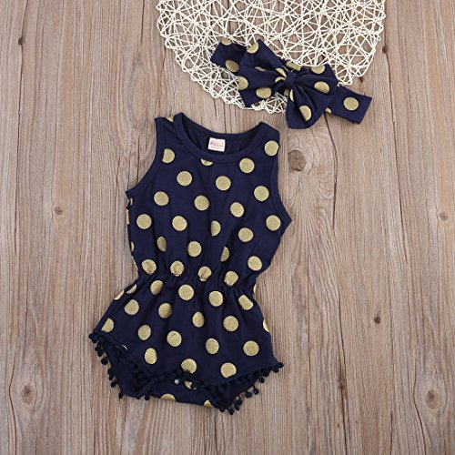 Baby Girl Clothes Gold Dots Body...
