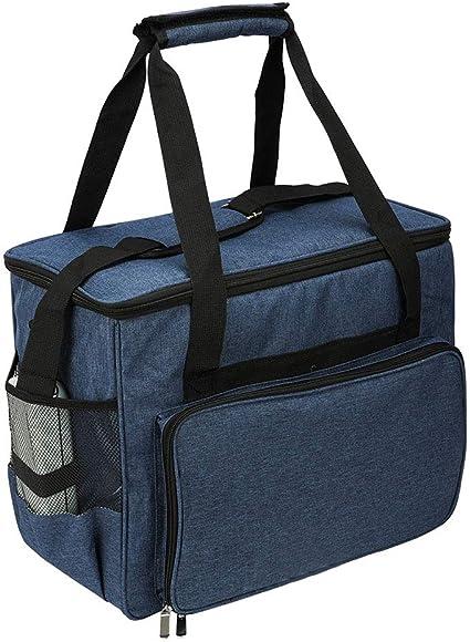 Bolsa para máquina de coser, bolsa de protección de almacenamiento, bolsa de transporte portátil para la mayoría de máquinas de coser estándar y accesorios de costura #3984 azul oscuro: Amazon.es: Hogar