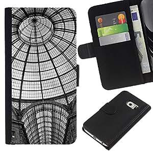 Ihec-Tech / Flip PU Cuero Cover Case para Samsung Galaxy S6 EDGE SM-G925 - Architecture New York Metro Station