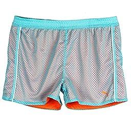 Puma Big-Girls Active Play Breathable Shorts Blue Orange White Small