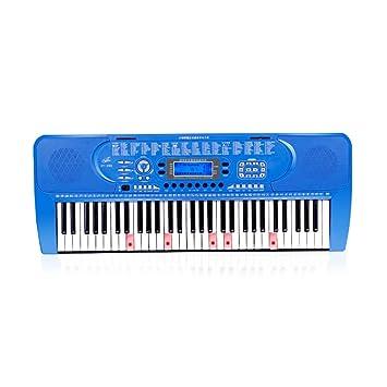 LINGLING-Piano Teclado Inteligente para niños Principiante Música Juguete Niños y niñas Piano (Color : Azul, Tamaño : Smart Version+Zither): Amazon.es: ...