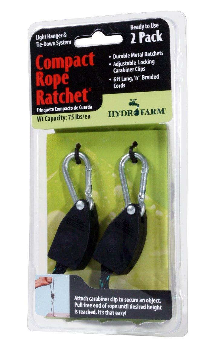 Hydrofarm CN10005 Poulie à Cliquet pour Corde 2 par Emballage 3, 1 cm