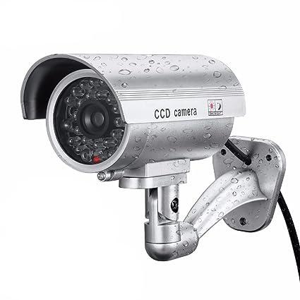 GOTTING Falsa cámara de vigilancia CCTV simulado al aire libre cubierta impermeable cámara de seguridad Pick