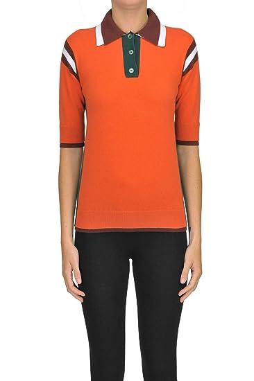 Rochas Polo Style Pullover Woman Orange 40 IT: Amazon.es: Ropa y ...