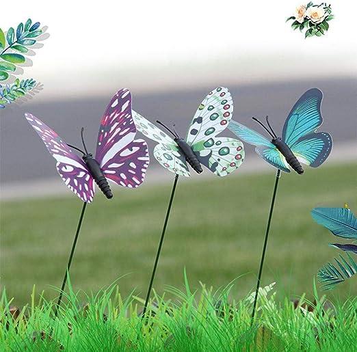 Ecisi Mariposas De Jardín Y Decoración de jardín Estacas de jardín Jardín de Mariposas Adornos de jardín y Decoración de Patio Arreglo de Flores de Mariposa Decoración de Bricolaje: Amazon.es: Hogar