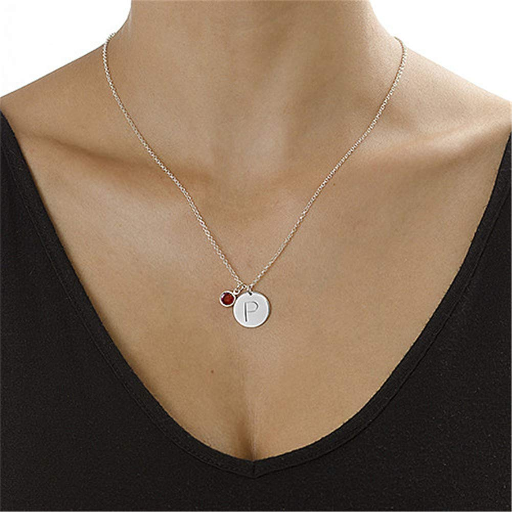 SADNESS N Custom Alphabet Necklace Disc Necklace for Women Girls Friendship Graduation Gift