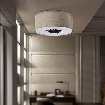 Einfache moderne amerikanische ländliche Gewebe-Decken-Lampe ...