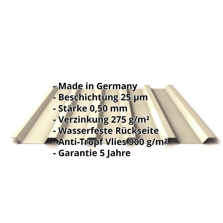 Farbe Hellelfenbein Profil PS35//1035TRA Trapezblech Dachblech St/ärke 0,50 mm Profilblech Beschichtung 25 /µm Material Stahl