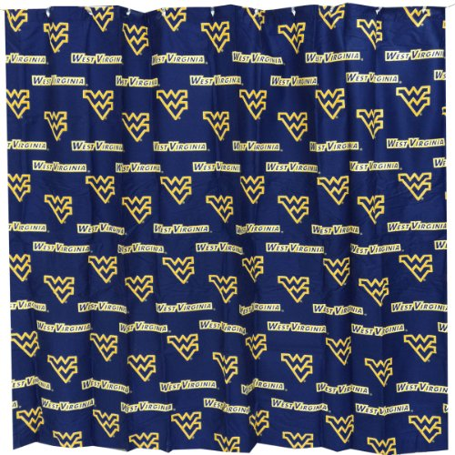 Virginia Shower Curtain (College Covers West Virginia Mountaineers Printed Shower Curtain Cover - 70
