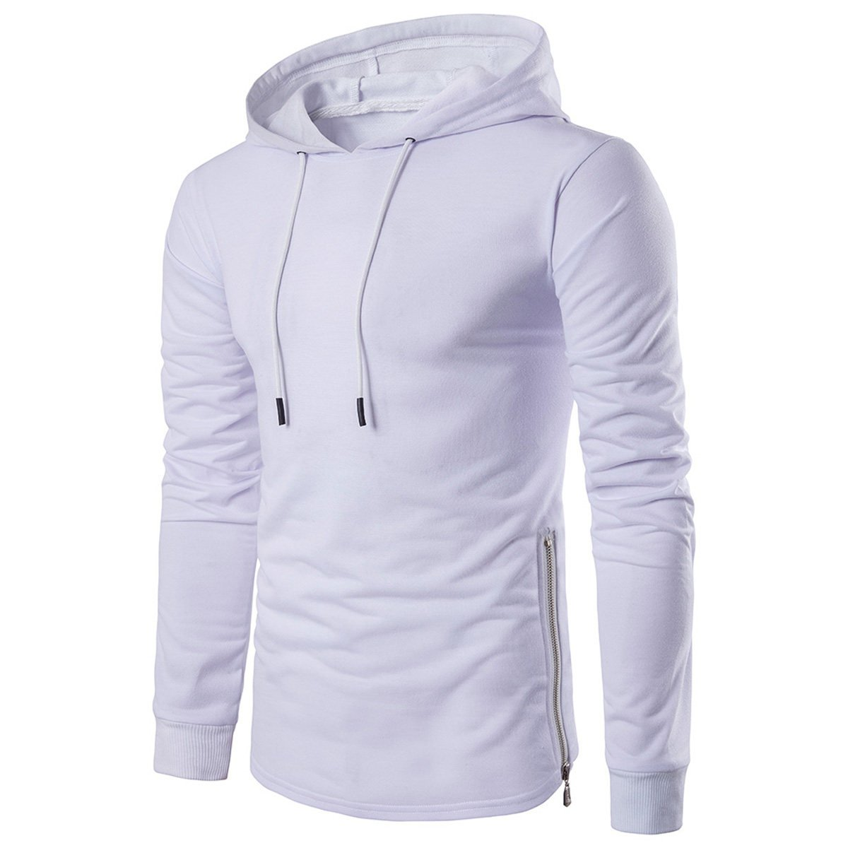 JINGLIYA Jeune Homme Mode Couleur Unie All-match Simple Manches Longues  Grande Taille Pull-over Sweat à Capuche Sweat-shirt  Amazon.fr  Vêtements  et ... e540b8734671