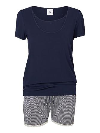 fbafd98e70dd0 Mamalicious Thilde Maternity and Nursing Short Pyjamas. Nightwear Blue  (Large 12-14)