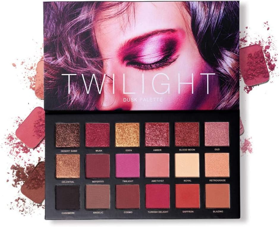 Jeeke 18 Color Eyeshadow Palette Pearl Glitter Matt Eye shadow Exquisite Cosmetic Makeup