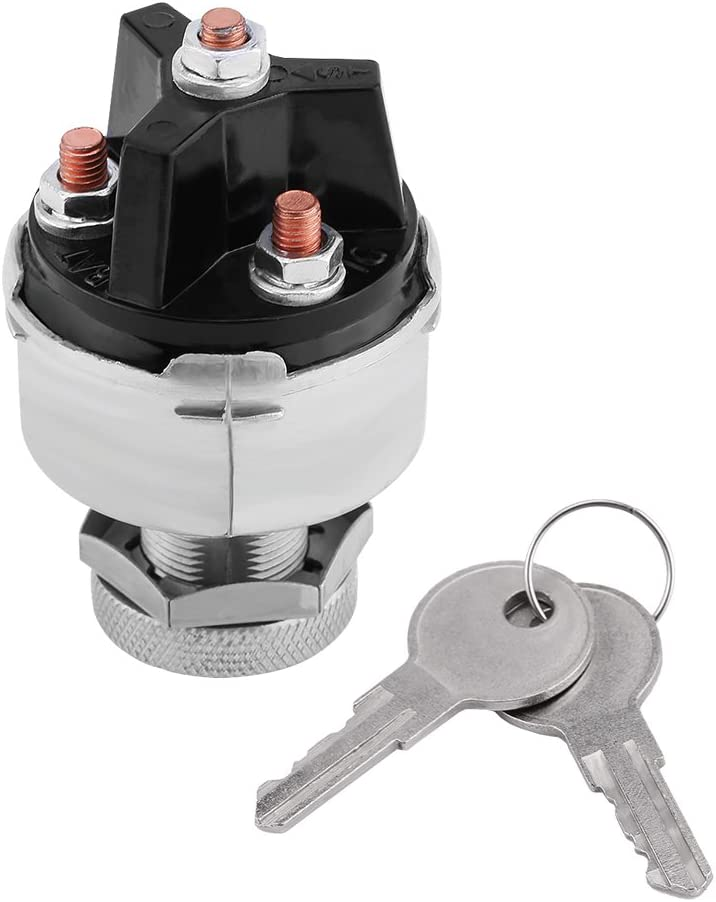 Qiilu Universal Ignition Switch Assembly with 2 Keys for Car Truck Trailer