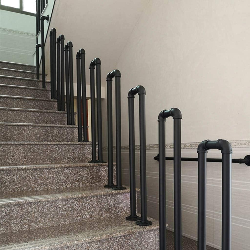 YUDE Barandilla de la escalera Negra, tubería galvanizada de Hierro Forjado en Forma de U, barandilla de Seguridad con Forma de tubería de Agua Retro, Adecuada para Barras, escaleras: Amazon.es: Hogar
