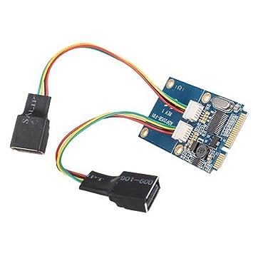 Dual Adaptador de USB 2.0 a hembra a mini PCI-E Express para ...
