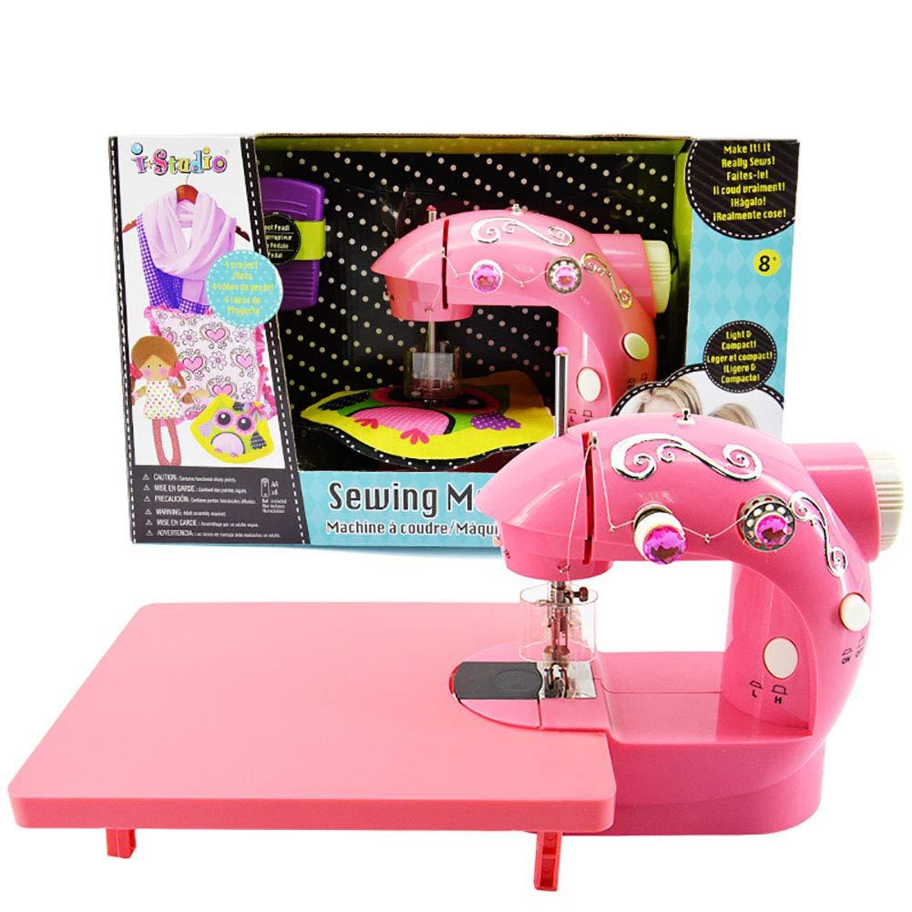 AMNFJ 多機能 家庭用電動ミニ 子供用 おもちゃ 裁縫機 女の子の誕生日プレゼントに最適   B07KD833XN