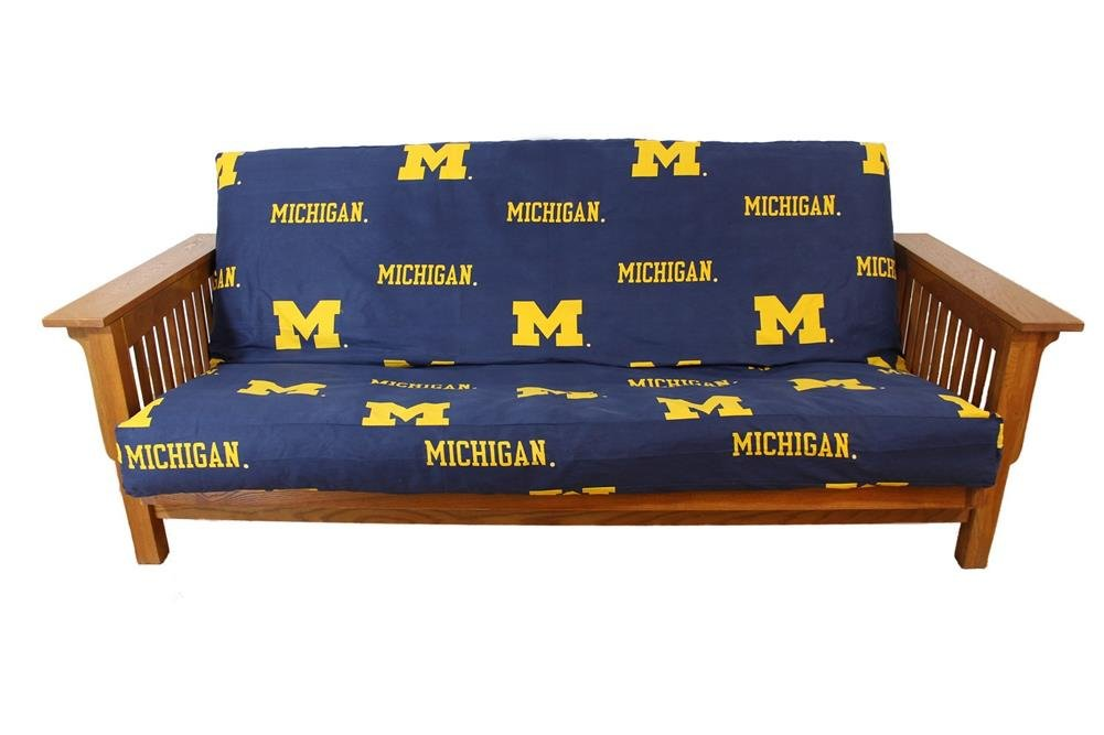 amazon    college covers michigan wolverines futon cover full  home  u0026 kitchen amazon    college covers michigan wolverines futon cover full      rh   amazon