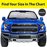 cool accessories for trucks - FORTEM Car Windshield Sunshade - Foldable Nylon Wind Shield Sun Shade - Visor Heat Shield Protector - Keeps Out UV Rays - Protects Vehicle Interior & Keeps it Cool (XL (66