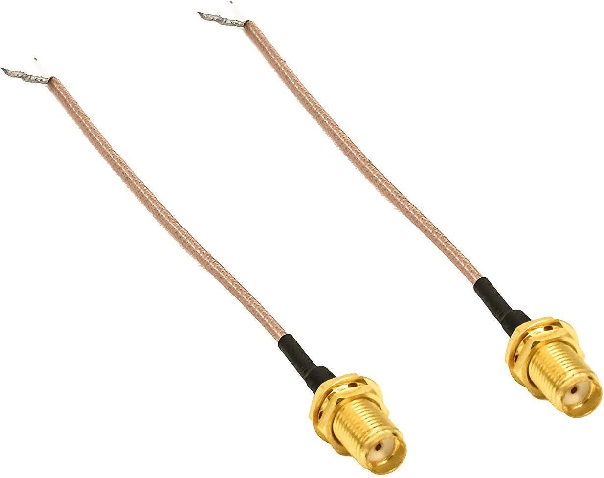 Technikkram Antena SMA de 868 MHz para CCU3 CCU2 Raspberry Pi CUL USB CC1101 GSM ELV Kit de montaje RaspberryMatic pivCCU Homematic Pigtail Cable (2 x ...