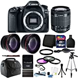 Cheap Canon EOS 80D 24.2MP Digital SLR Camera with 18-55mm Lens & 16GB Top Bundle