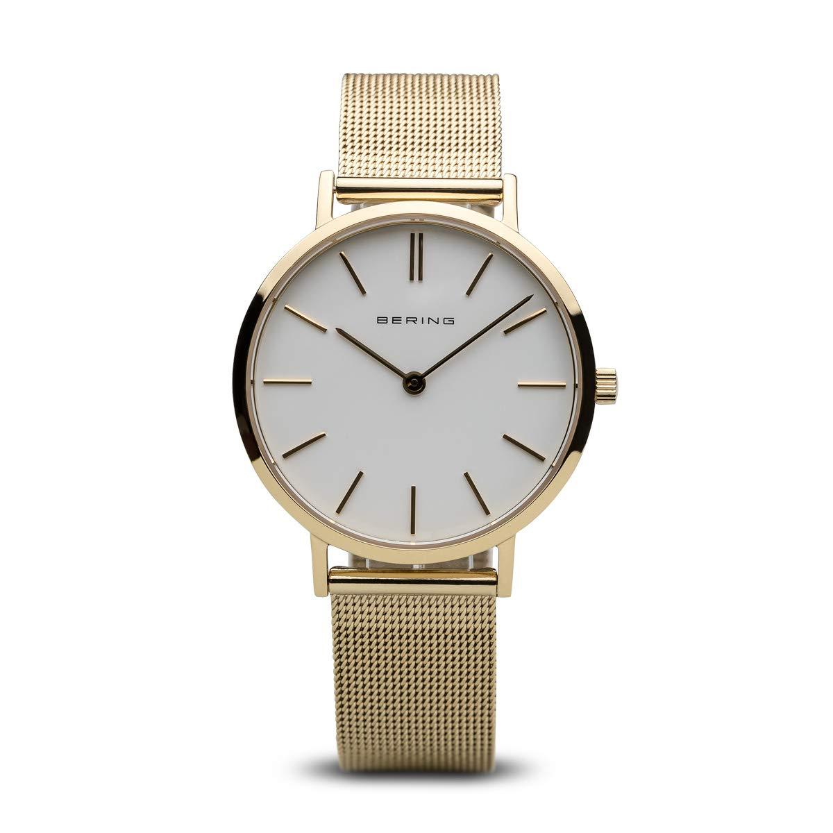 BERING Reloj Analógico para Mujer de Cuarzo con Correa en Acero Inoxidable 14134-331: Amazon.es: Relojes