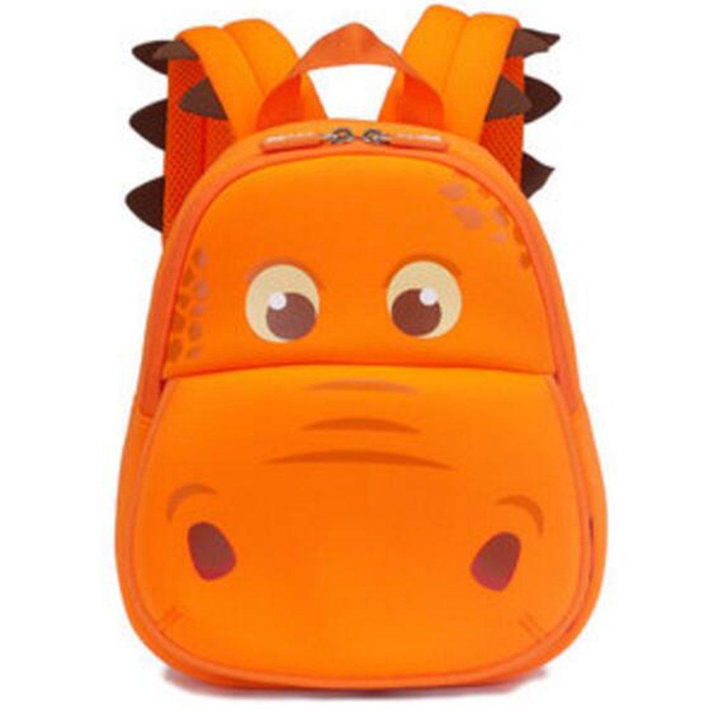 Georgie Porgy 3D Mochila Infantiles Animal Bolsas Escolares de Niños Niñas (Naranja Hipopótamo) product