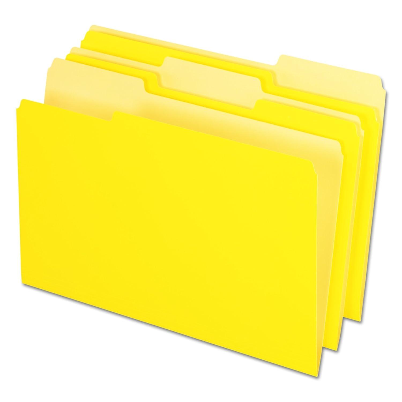 Legal Yellow Box of 100 1//3 Cut Top Tab Pendaflex 435013YEL Interior File Folders
