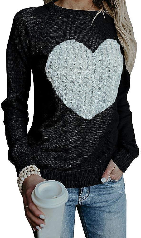 Pinc Premium Big Girls Crew Neck Color Blocked Heart Sweater
