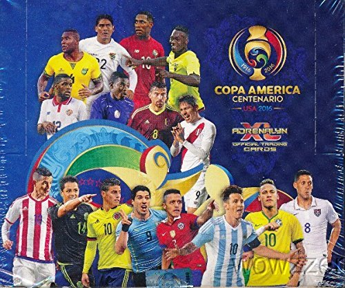 (2016 Panini Adrenalyn Copa America Centenario Factory Sealed Box with 24 Packs & 144 Cards! Look for Top Soccer Superstars Lionel Messi,Luis Suarez,Neymar Jr. & Many More! Very Rare! Imported!)