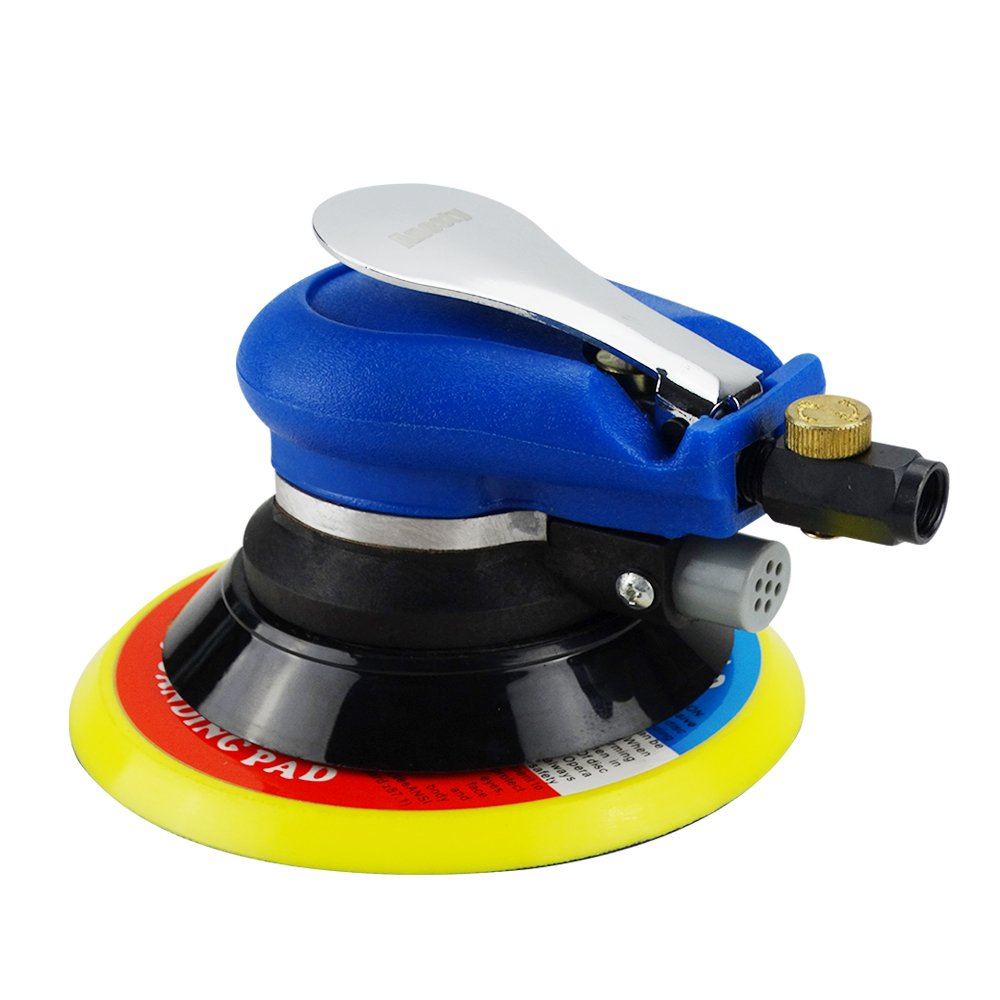 Anesty Air Random Orbital Sander, Dual Action Pneumatic Orbit Polisher Grinding Sanding Tools (6'')