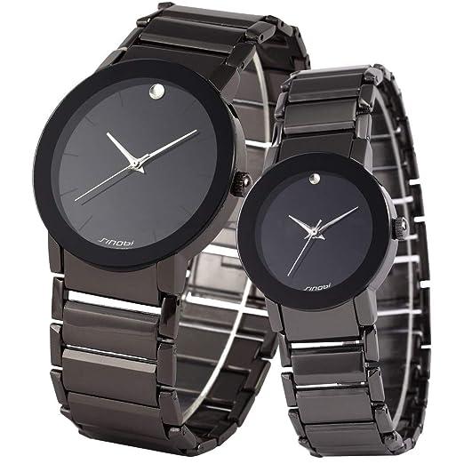 SINOBI - Reloj romántico de San Valentín para Parejas, para él y para Ella, clásico, Resistente al Agua, Juego de Regalo para los Amantes: Amazon.es: ...