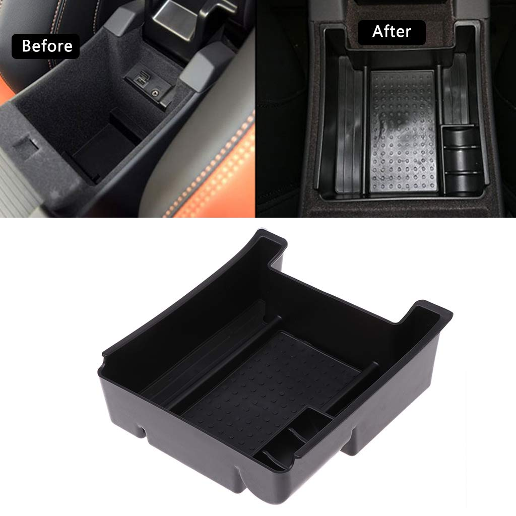 Xuniu Car Armrest Storage Box Pallet Center Console Tray For Volvo XC60 S60 V60 14.7x13.7x4.5cm