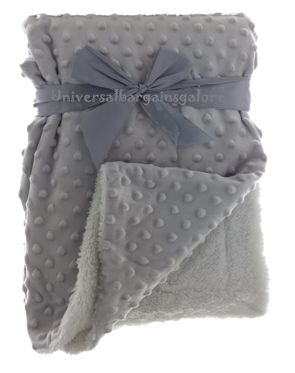 E& A Couverture Bébé Tissu Réversible Minky et Sherpa Soft Touch Respirant Anti-Pilling Multiuse pour Poussette Linge de Lit Voiture Siège de Voiture Lavable E&A Distribution Limited